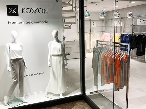 KOKKON Seidenmode GALLERIA Passage Hamburg Fashion Store Eröffnung