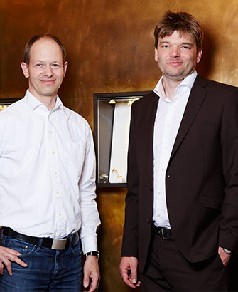 Bagger & Gehring in der GALLERIA Passage Hamburg Inhaber Martin Bagger und Andreas Gehring