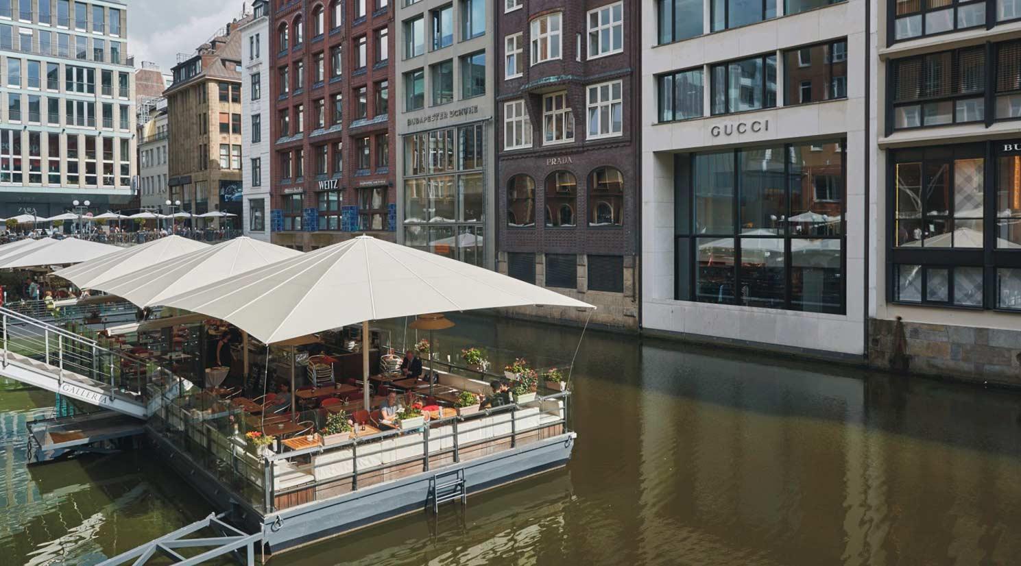 Mazza in der GALLERIA Passage Hamburg Restaurant Große Bleichen Ponton