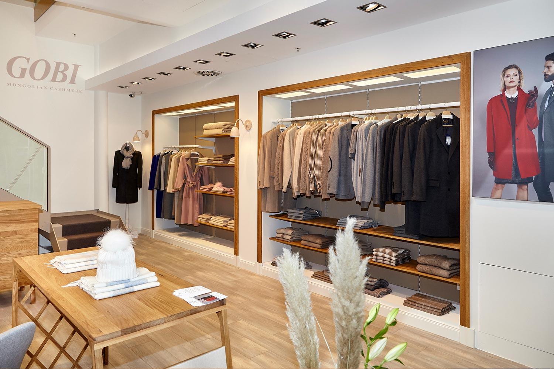 GOBI Mongolian Cashmere GALLERIA Passage Hamburg Store