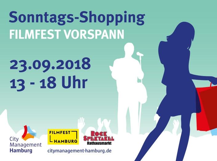 verkausoffener Sonntag in Hamburg Filmfestvorspann 23. September Galleria Hamburg
