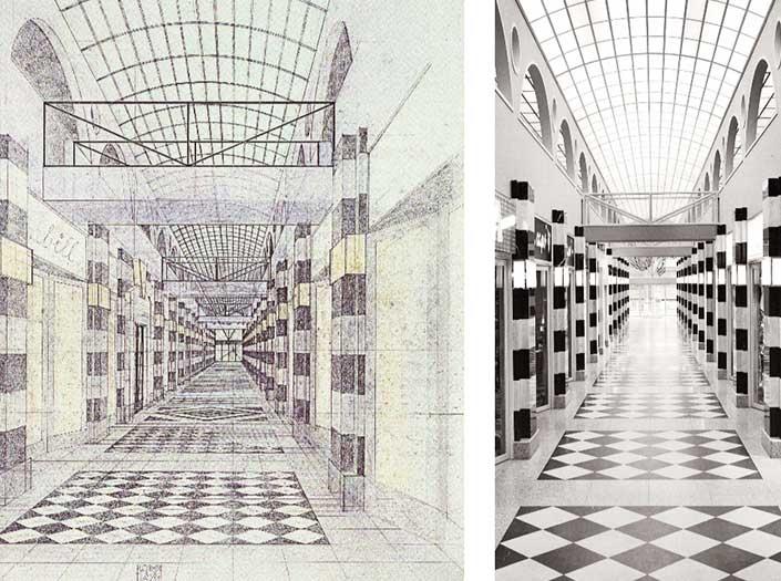 Berühmte Architekten Bau Gallaria Passage