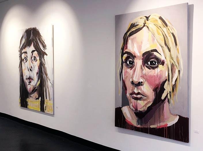 Kunstausstellung GALLERIA Passage Hamburg Humanity Marielle Yogi
